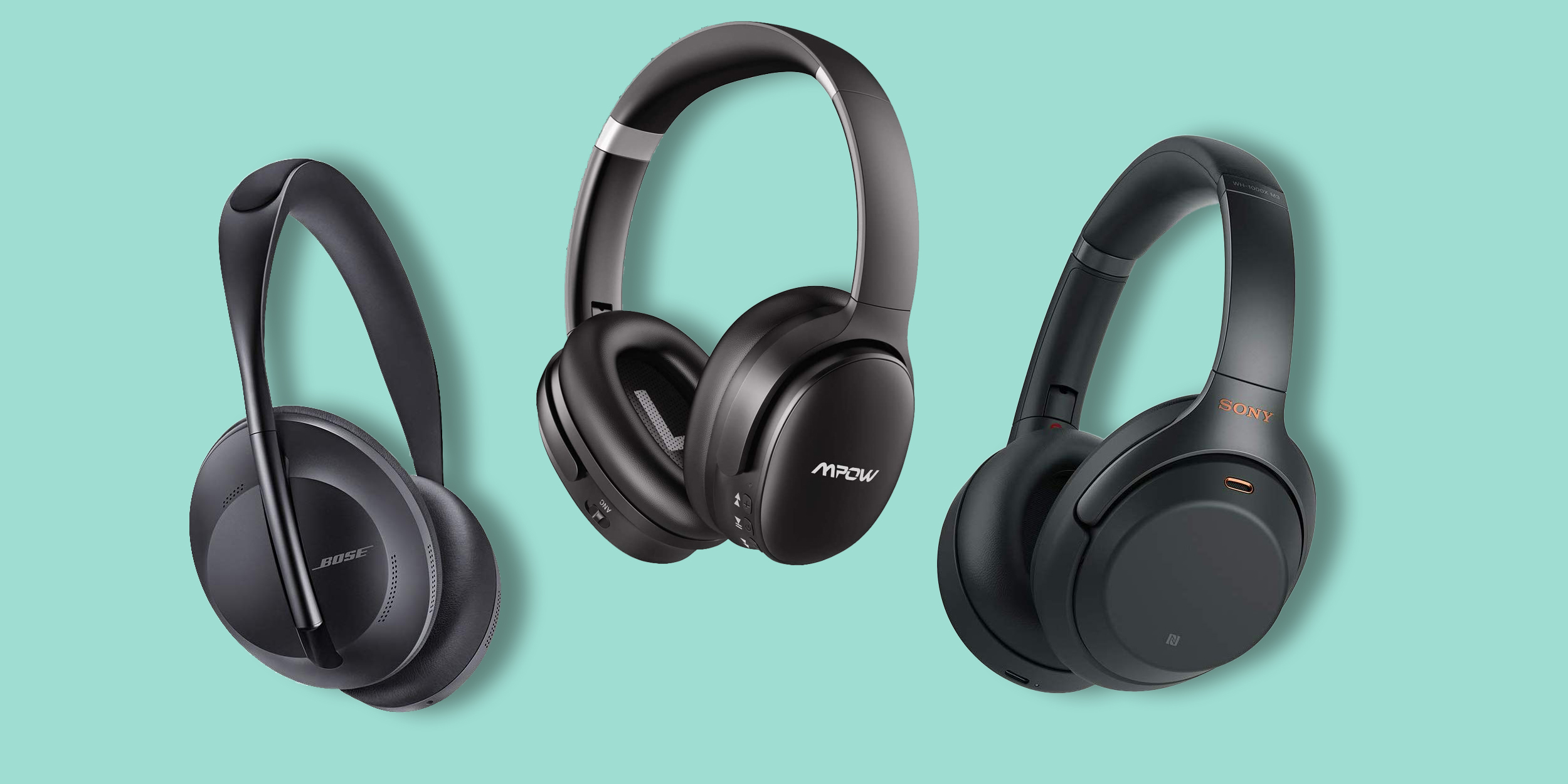 Pair of Noise-Canceling Headphones: