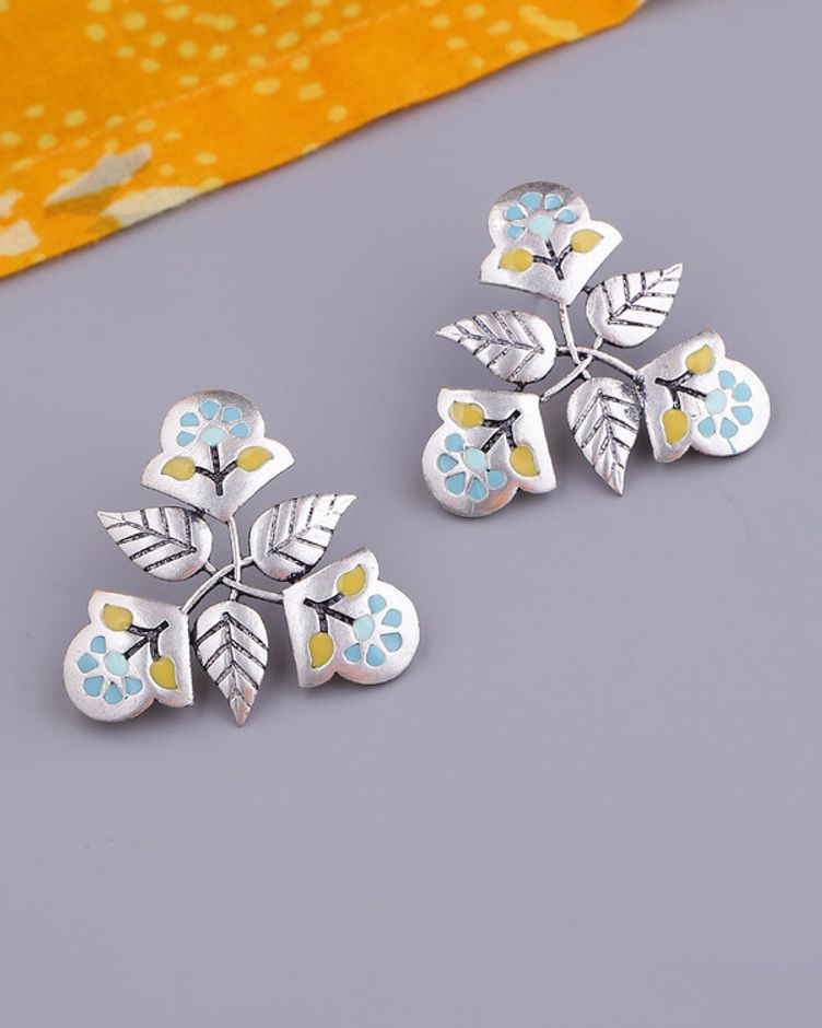 Bagh E Fiza Floral Motifs Earrings