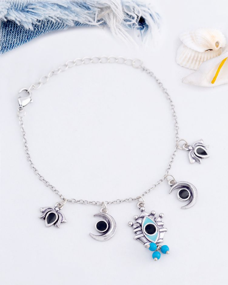 Evil Eyes Lightly Embellished Bracelet